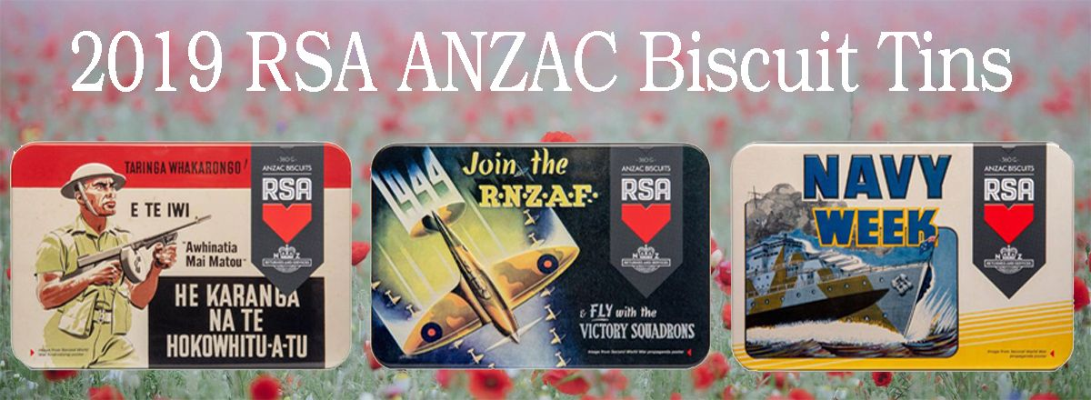 RSA Anzac Biscuit Tins