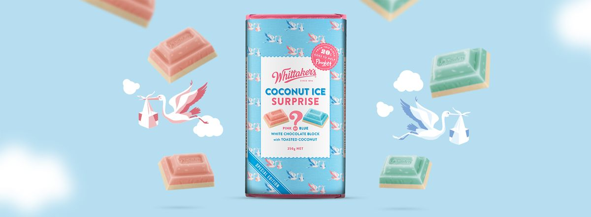 Whittakers Coconut Ice Surprise
